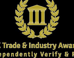 UK Trade and Industry Awards Logo gold